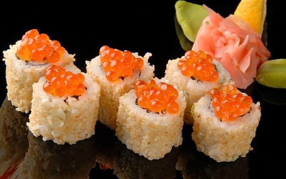 Wallpaper Sushi, caviar