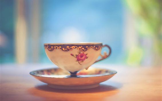 Fondos de pantalla Taza de té, brumoso