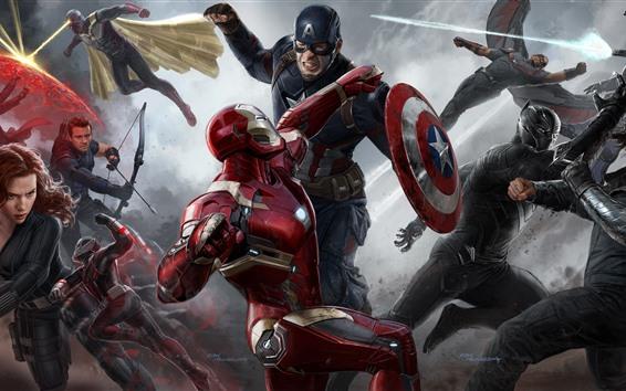 Fondos de pantalla Los vengadores, superhéroes, fotografía artística, película de Marvel.