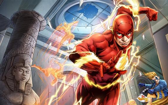 Fondos de pantalla El flash, DC Comics, héroe