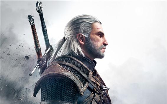 Обои Ведьмак 3: Дикая Охота, человек, меч