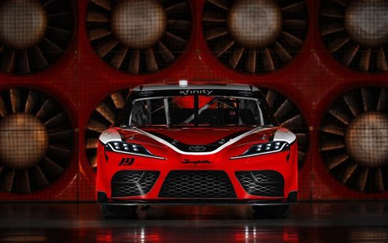 Fondos de pantalla Vista frontal del auto de carreras Toyota 2019