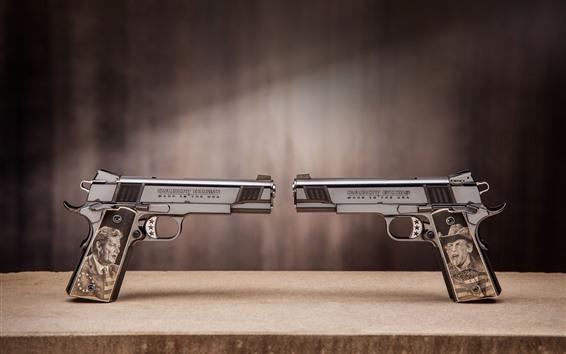 Papéis de Parede Duas armas, pistola, arma