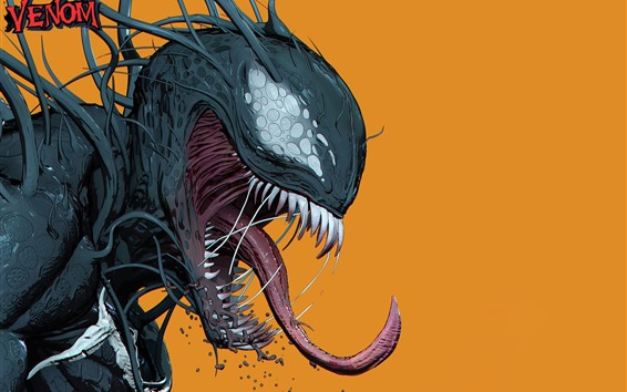 Fondos de pantalla Venom, DC Comics, fondo naranja