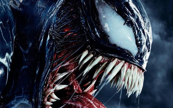 Wallpaper Venom, teeth, monster, 2018 movie
