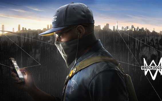 Wallpaper Watch Dogs 2, PS4 games