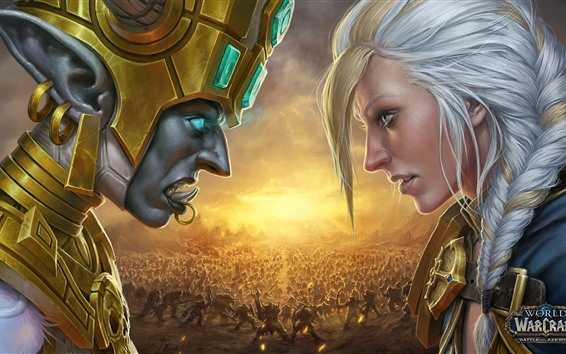 Wallpaper World of Warcraft: Battle for Azeroth, face to face