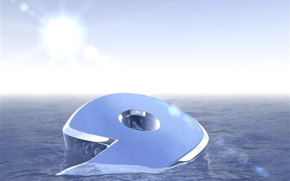 Papéis de Parede 3D 9, água, sol