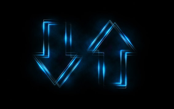 Fondos de pantalla Flechas abstractas, luz azul