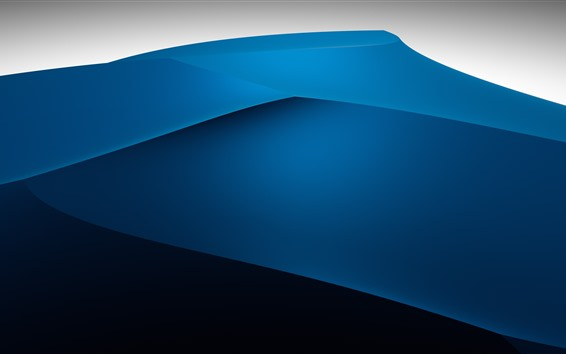 Wallpaper Abstract blue mountains