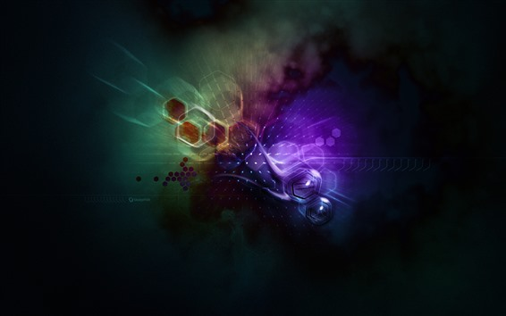 Wallpaper Abstract grids, spots, creative picture