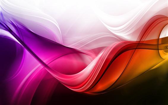 Fondos de pantalla Ondas abstractas, curvas, colores.