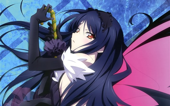 Wallpaper Accel World, blue hair anime girl