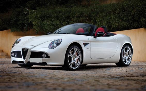 Fondos de pantalla Alfa Romeo blanco convertible