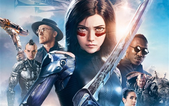Wallpaper Alita: Battle Angel, 2019 Sci-Fi movie
