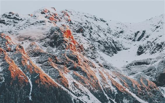 Fondos de pantalla Alpes, nieve, montaña