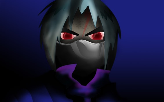 Wallpaper Anime boy, red eyes, horror