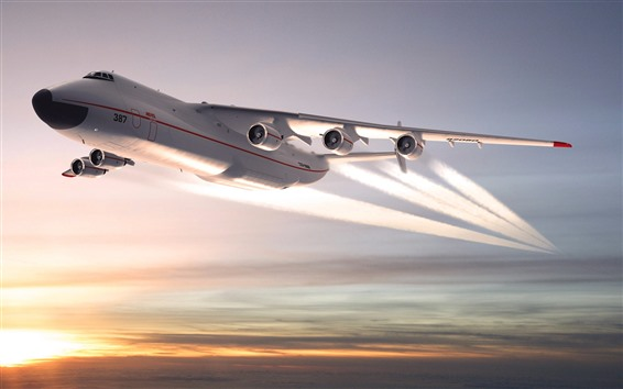 Wallpaper Antonov An-225 plane, sky, sunset