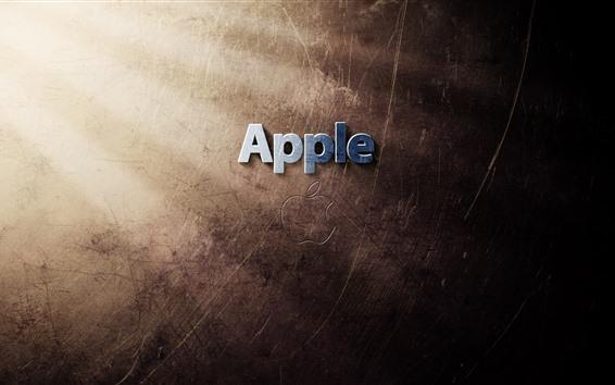 Wallpaper Apple logo, light rays, texture