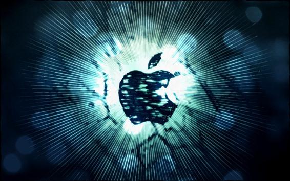 Wallpaper Apple logo, stripes, lines