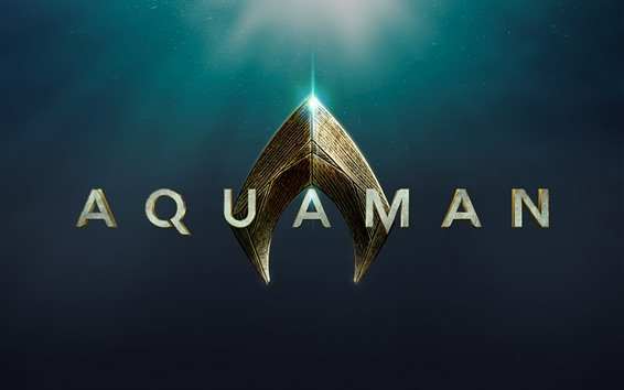 Fondos de pantalla Aquaman, logo de la pelicula