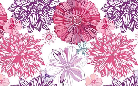 Fondos de pantalla Cuadro del arte, Fondo de la textura de las flores del aster