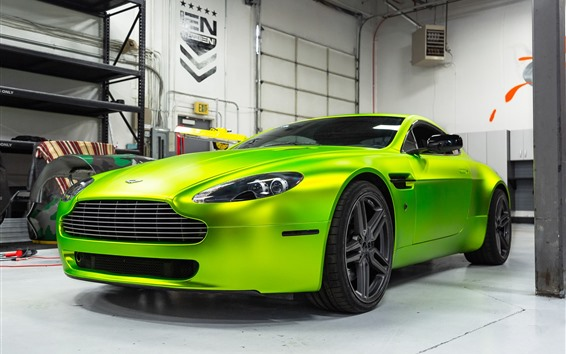 Fondos de pantalla Supercar verde híbrido Aston Martin