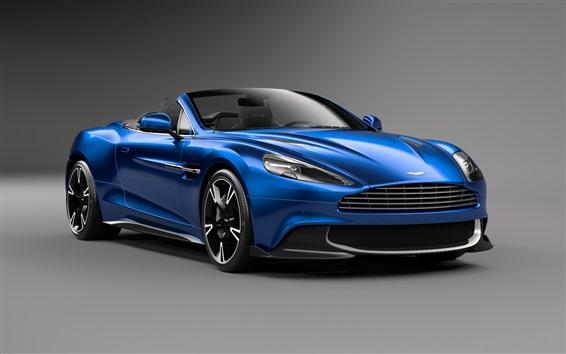 Fondos de pantalla Aston Martin Vanquish S coche azul