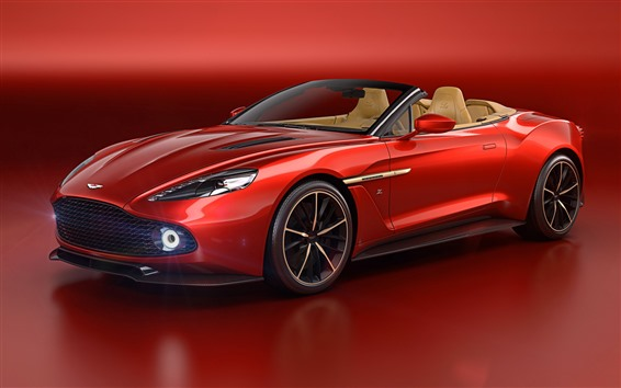 Wallpaper Aston Martin red sport car