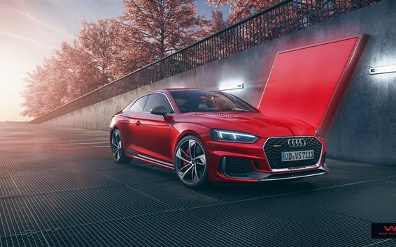 Fondos de pantalla Audi RS5 coche rojo