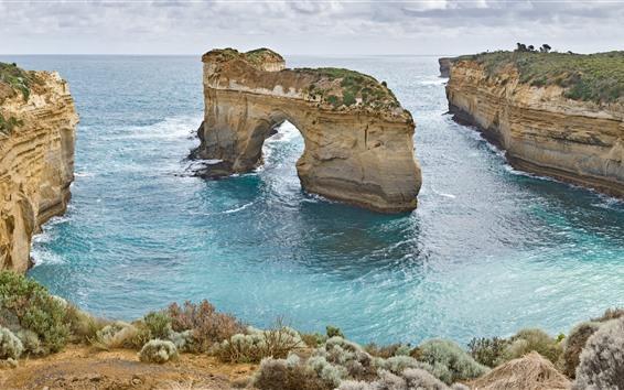 Papéis de Parede Austrália, arco, mar, paisagem natural