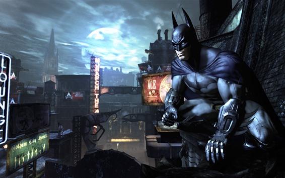 Fondos de pantalla Batman, ciudad, noche, juego de PC