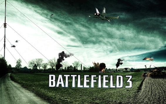 Fondos de pantalla Battlefield 3, tierras de cultivo, tanques, cazas