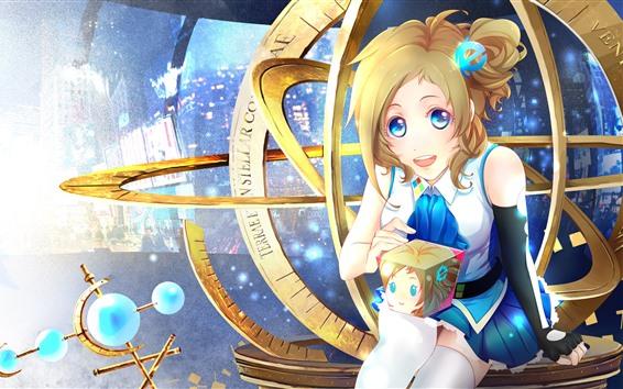 Fondos de pantalla Hermosa chica de anime, Inori Aizawa