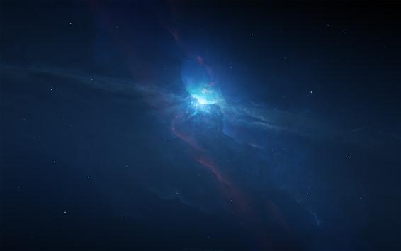 Wallpaper Beautiful space, nebula, universe, blue