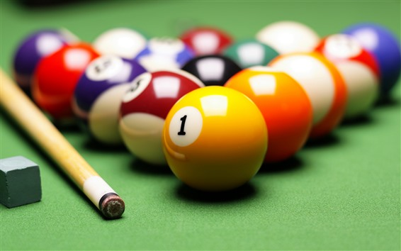 Wallpaper Billiards, balls, colors