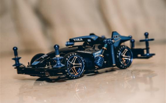 Fondos de pantalla Coche de carreras azul F1, juguete