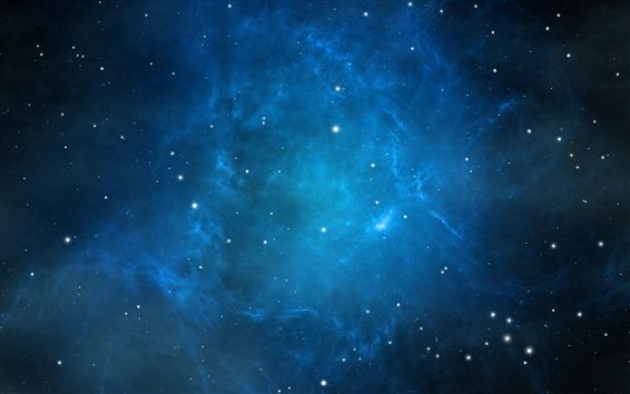 Fondos de pantalla Espacio azul, estrellas, luz