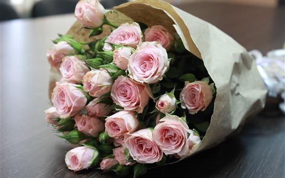 Fondos de pantalla Ramo, flores, rosas rosadas