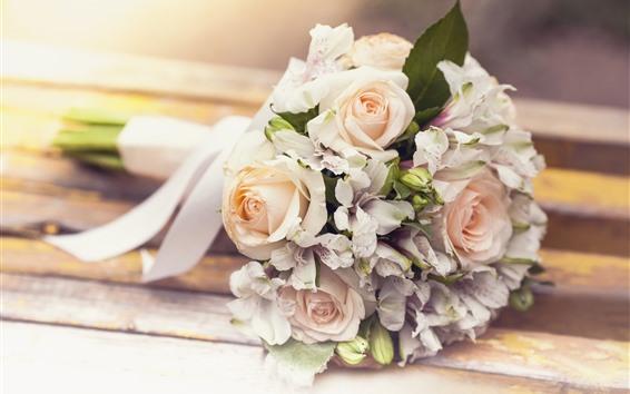 Fondos de pantalla Bouquet, rosa, lirio, flores.
