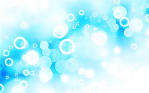 Fondos de pantalla Círculos brillantes, fondo azul