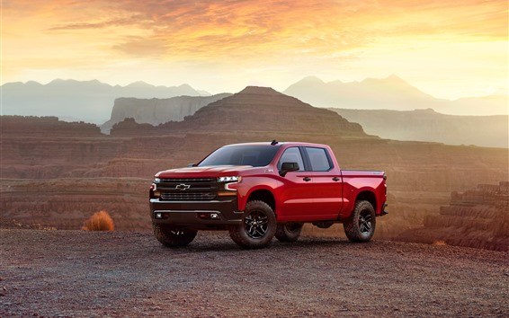 Wallpaper Chevrolet Silverado Z71 red pickup