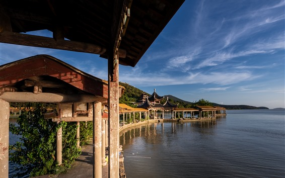 Fondos de pantalla Arquitectura China del jardín, parque, lago