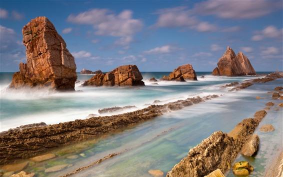 Fondos de pantalla Costa, rocas, mar