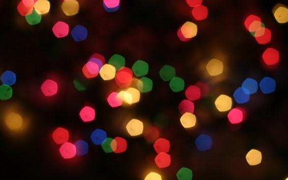 Fondos de pantalla Círculos de luz coloridos, brillantes