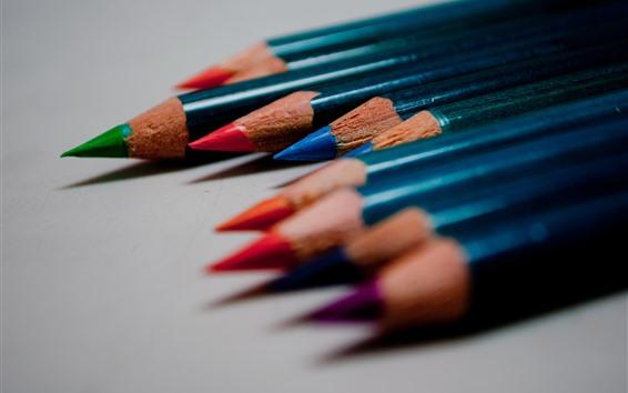 Обои Красочные карандаши, тень