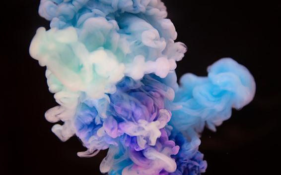 Fondos de pantalla Colorido humo, fondo negro, cuadro abstracto.