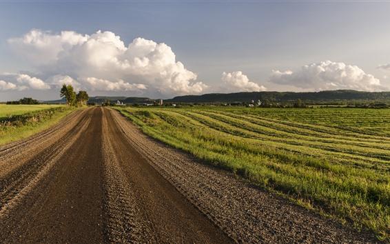 Fondos de pantalla Campo, campos, carretera