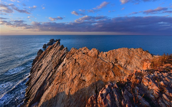 Fondos de pantalla Dalian, rocas, mar, china