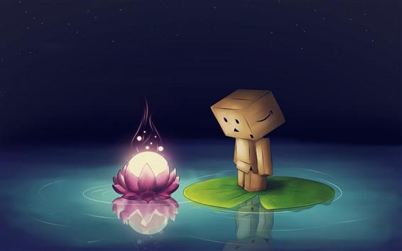 배경 화면 단보, 핑크 로터스 꽃